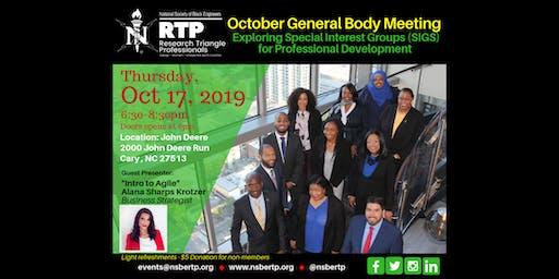 NSBE General Body Meeting - Oct 2019