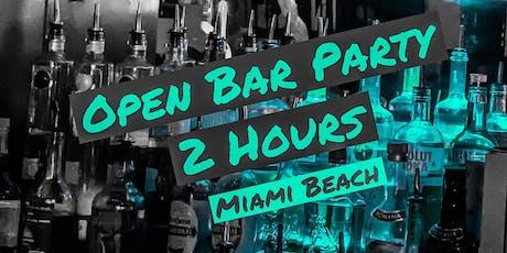 OPEN BAR 2 HRS -HIP HOP PARTY in Miami Beach tickets