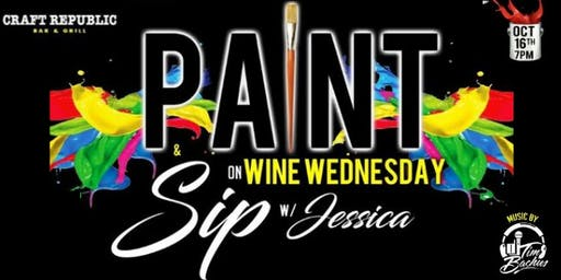 Paint and Sip on Wine Wednesday at Craft Republic