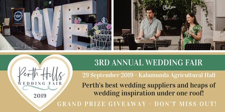 The original Perth Hills Wedding Fair 2019 tickets