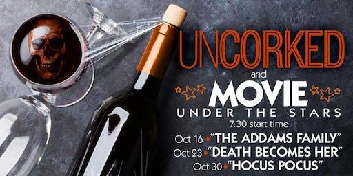 Uncorked & Movie Under the Stars: Halloween Edition