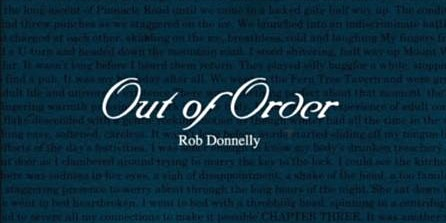 "Author Talk - Rob Donnelly ""Out of Order"" (Ages 16+) (Woden Library)"