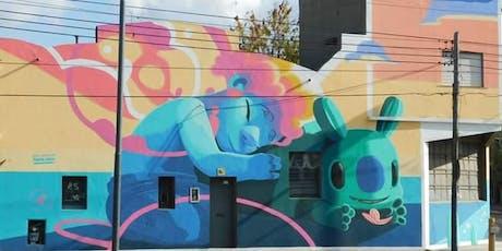 Coloridos graffitis en la localidad de San Martín entradas