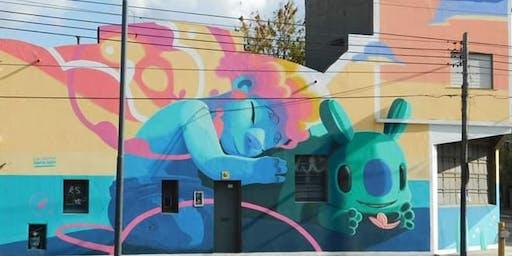 Coloridos graffitis en la localidad de San Martín