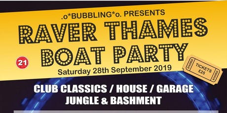 Raver Thames Boat Party tickets