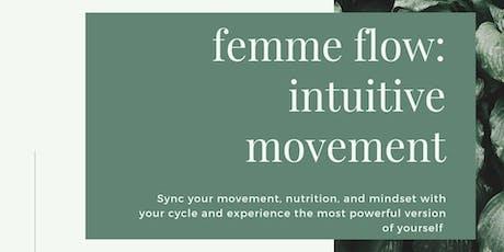 femme flow | menstrual | new  tickets