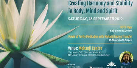 Creating Harmony and Stability in Body, Mind and Spirit tickets