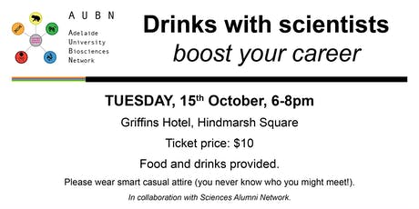 Drinks with scientists - boost your career tickets