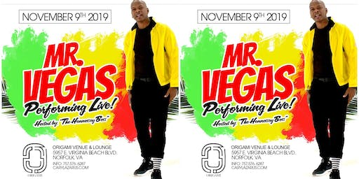 Mr. Vegas Live Up Close and Personal at Origami Venue & Lounge!