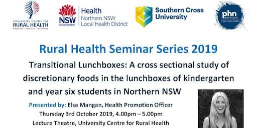 Rural Health Seminar: Elsa Mangan, Health Promotion Officer NNSWLHD