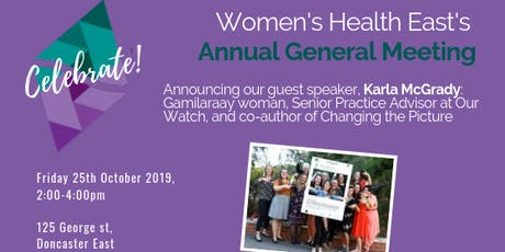 Women's Health East 2019 Annual General Meeting tickets