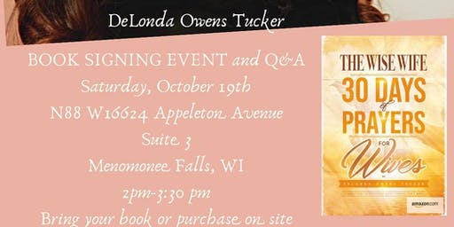 The Wise Wife:  30 days of Prayer for Wives by DeLonda Tucker Book Signing