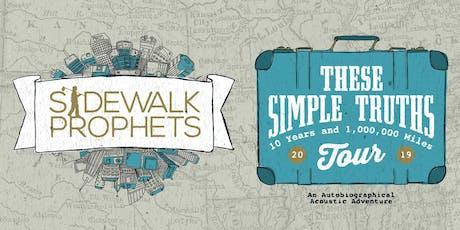 Sidewalk Prophets VOLUNTEERS - Topeka, KS tickets