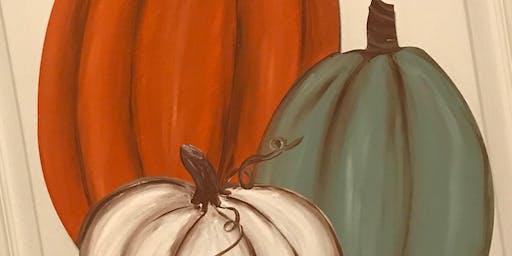 3 Pumpkins Door Hanger