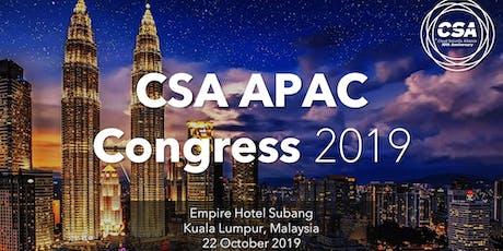 CSA APAC Congress 2019 tickets