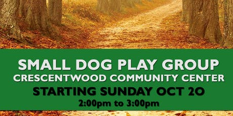 Crescentwood Small Dog Playgroup October 20 tickets