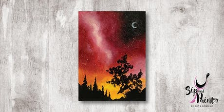 Sip & Paint MY @ Hubba Mont Kiara : Red Galaxy Sky tickets