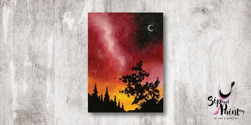 Sip & Paint MY @ Hubba Mont Kiara : Red Galaxy Sky