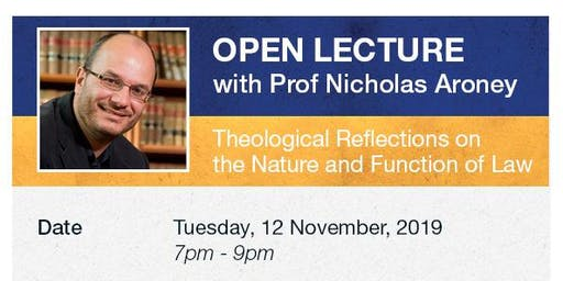 Open Lecture with Professor Nicholas Aroney