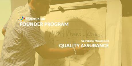 [Founder Program] Quality Assurance tickets