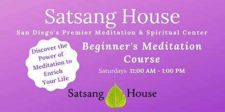 Beginner's Meditation Course at Satsang House tickets