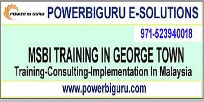 Microsoft MSBI (SSIA,SSAS,SSRS) training in GEORGE TOWN,,Malaysia