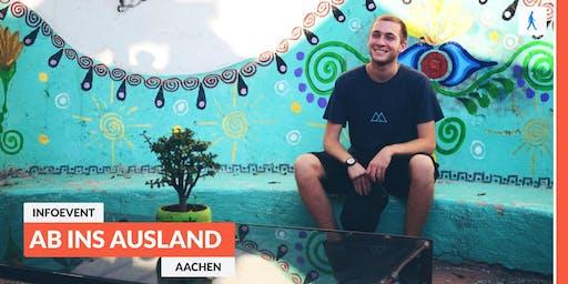 Ab ins Ausland: Infoevent zu sozialen Projekten im Ausland   Aachen