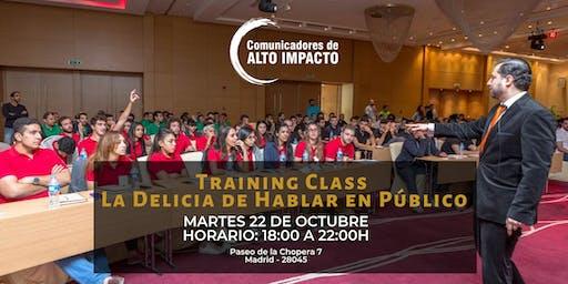 La Delicia de Hablar en Público - TrainingClass