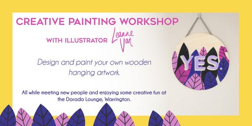 Creative Painting Workshop with Illustrator Leanne Van