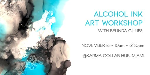 An Introduction to Alcohol Inks Art Workshop