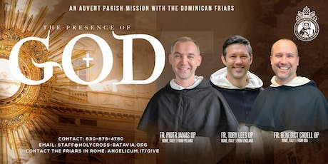 THE PRESENCE OF GOD: Advent Mission with Dominicans of the Angelicum tickets