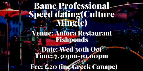 Bame professionals Speed Dating (Culture Mingle) tickets
