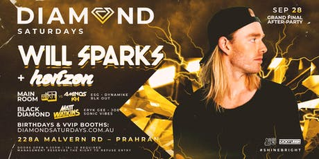 WILL SPARKS - Diamond Saturdays tickets