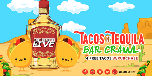 Tacos N' Tequila Crawl | Cincinnati, OH - Bar Crawl Live