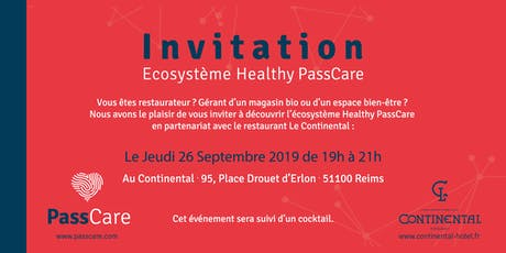 Ecosystème Healthy PassCare billets