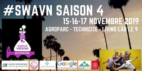 Startup Weekend Avignon Saison 4 billets