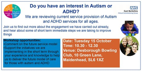 Autism and ADHD review of services for all ages in East Berkshire tickets