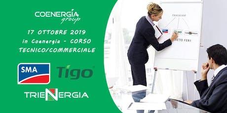 17.10.2019 Corso in Coenergia con ospiti SMA, Tigo, Trienergia e FER1 biglietti