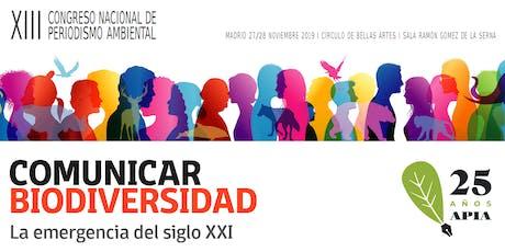 XIII Congreso Nacional de Periodismo Ambiental entradas