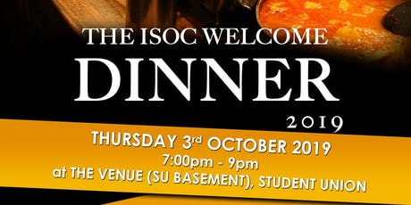 ISOC Welcome Dinner 2019 tickets