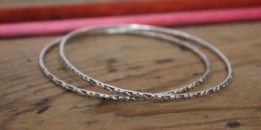 Silver Bangle with Charm Class