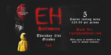EH Halloween 5 course tasting menu event tickets