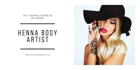 Henna Body Artist Practitioner tickets