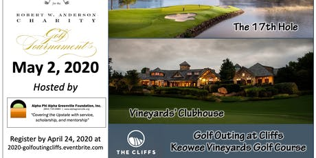 Robert W. Anderson, Jr. Charity Golf Outing at the Cliffs at Keowee Vineyards tickets