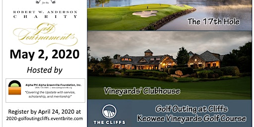 Robert W. Anderson, Jr. Charity Golf Outing at the Cliffs at Keowee Vineyards
