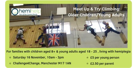 HemiHelp Meet Up & Try Climbing: Older Children and Young Adults tickets