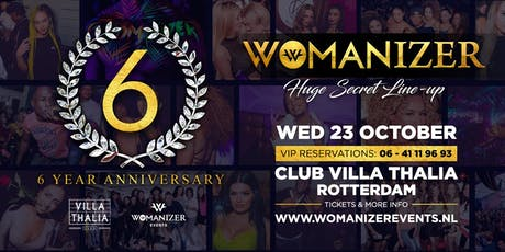 Womanizer - 23 Okt - 6 Year Anniversary - Club Villa Thalia tickets