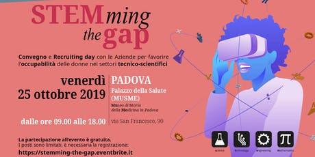 STEMming the gap: conferenza e recruiting day per favorire l'occupabilità biglietti