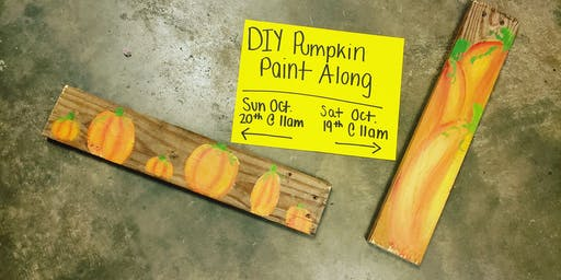 SATURDAY DIY Paint Along - Pumpkin Patch SATURDAY