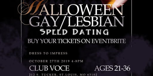 HALLOWEEN GAY & LESBIAN SPEED DATING: AGES 21-36